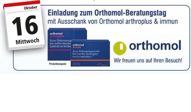 Einladung zum Orthomol-Beratungstag am 16.Oktober 2019